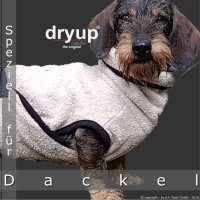 Fit4Dogs - Hundebademantel dryup Cape Dackel sand