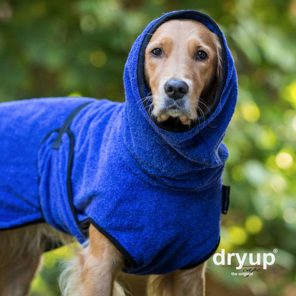 Fit4Dogs - Hundebademantel dryup cape Blueberry