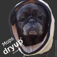 Fit4Dogs - Hundebademantel dryup Cape Mops sand