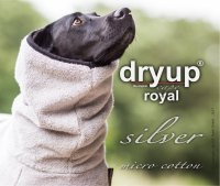 Fit4Dogs - Hundebademantel dryup cape Royal Silver