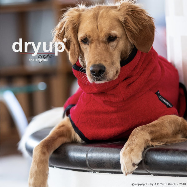 Fit4Dogs - Hundebademantel dryup cape Red Pepper