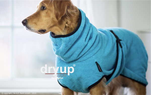 Fit4Dogs - Hundebademantel dryup cape Cyan