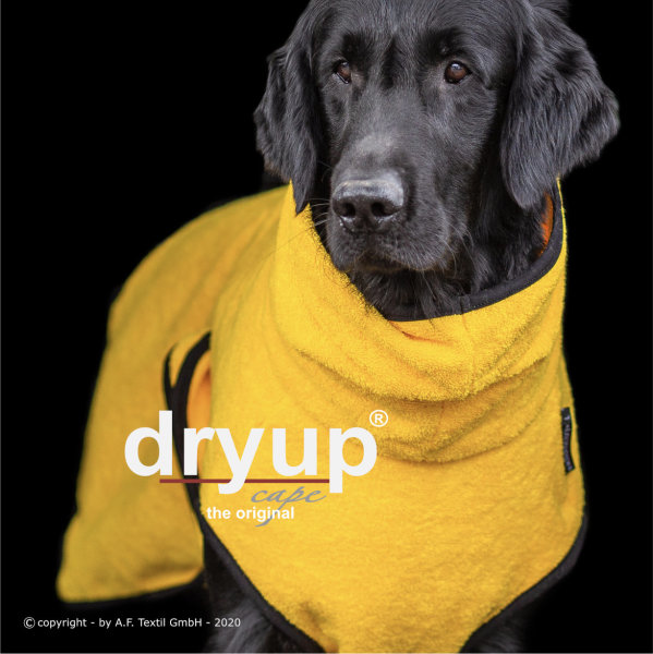 Fit4Dogs - Hundebademantel dryup cape Yellow