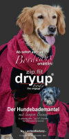 Fit4Dogs - Hundebademantel dryup body zip.fit Bordeaux