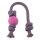 Beco Ball with Rope Large Pink