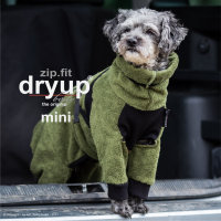 Fit4Dogs - Hundebademantel dryup body zip.fit Moos